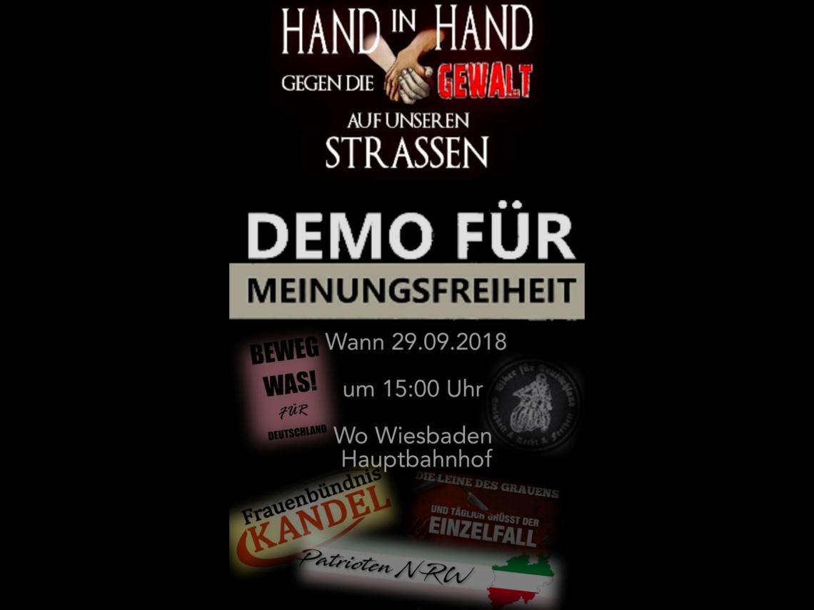 Demo für Meinungsfreiheit - Wiesbaden